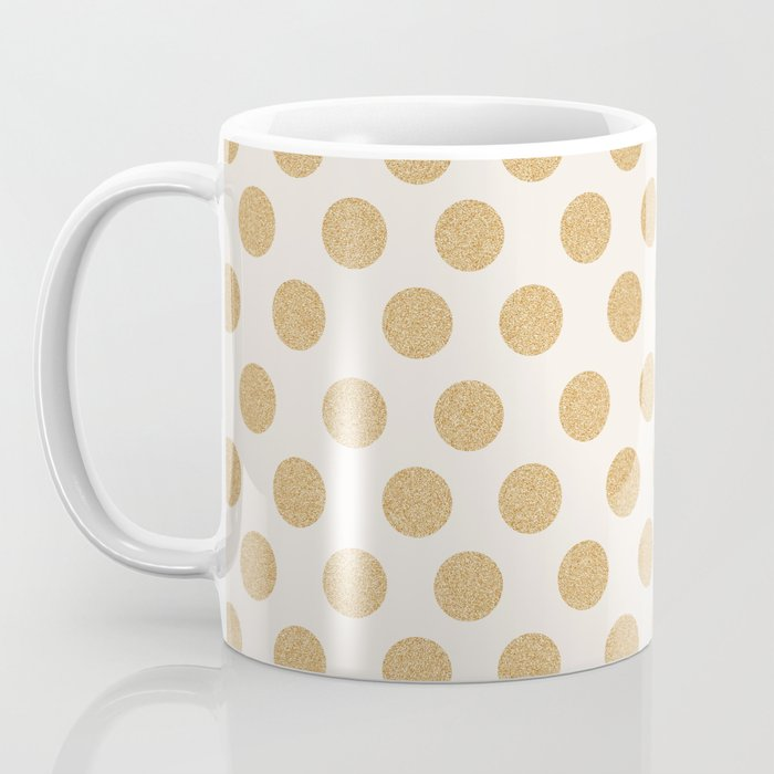 Glittering Gold Dots Coffee Mug
