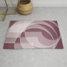 Spacial Orbiting Spiral in Mulberry Rug