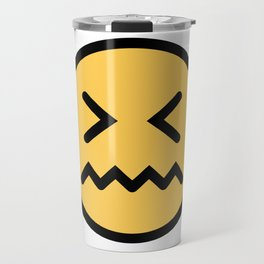 Smiley Face   Squeezing Look   Annoyed Face Travel Mug