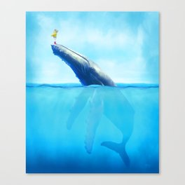 Molly and Her Whale Canvas Print