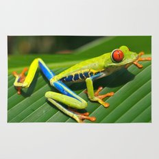 Green Tree Frog Red-Eyed Rug