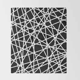 Lazer Dance B&W 1 Throw Blanket