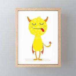 Funny little monster #society6 #decor Framed Mini Art Print