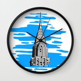 Shine like the top of the Chrysler Building! Wall Clock