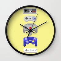 nintendo Wall Clocks featuring Nintendo by 8BOMB
