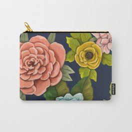 Floral design- Botanical Art - Flower Pattern Carry-All Pouch