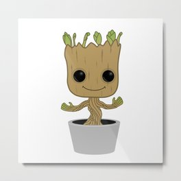 Little Groot Metal Print