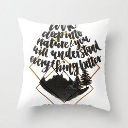 Einstein quote Throw Pillow