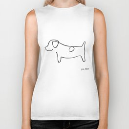 Abstract Jack Russell Terrier Dog Line Drawing Biker Tank