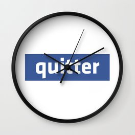 quitter Wall Clock