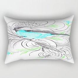 Blue Robin Rectangular Pillow
