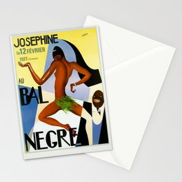 1920's Paris France Josephine Baker Jazz Revue Bal Negre Poster Stationery Cards