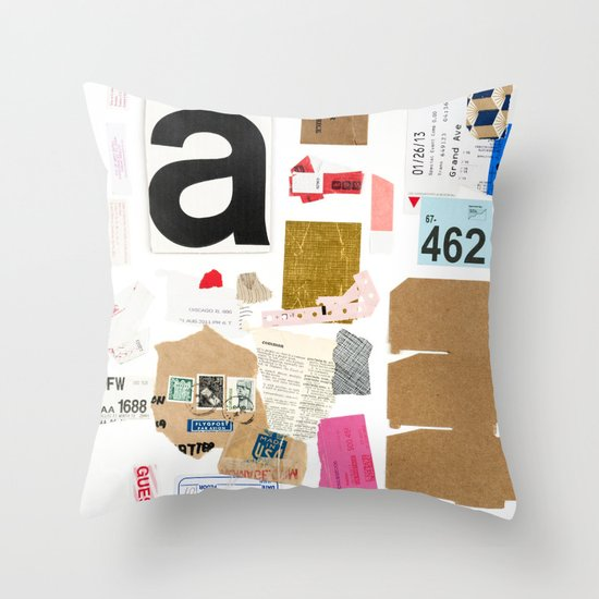 Paper Trail I  Throw Pillow