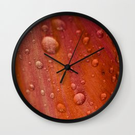 Dewdrops Wall Clock