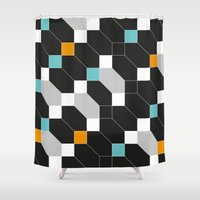 depeche mode Shower Curtains featuring Mode duex by blacknote