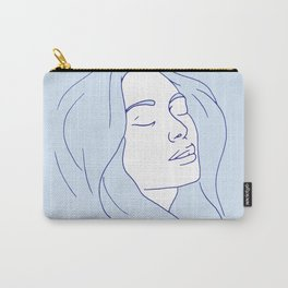 Woman in Reverie Light Blue Carry-All Pouch