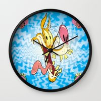 howl Wall Clocks featuring Howl by Kyle Baker's QUALITY JOLLITY