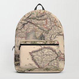 Map Of Austria 1850 Backpack
