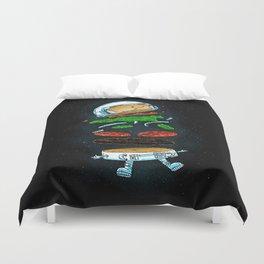 The Astronaut Burger Duvet Cover