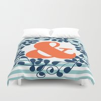 ampersand Duvet Covers featuring ampersand by ArigigiPixel