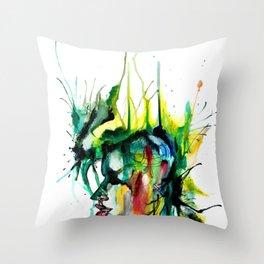 mind - beast Throw Pillow
