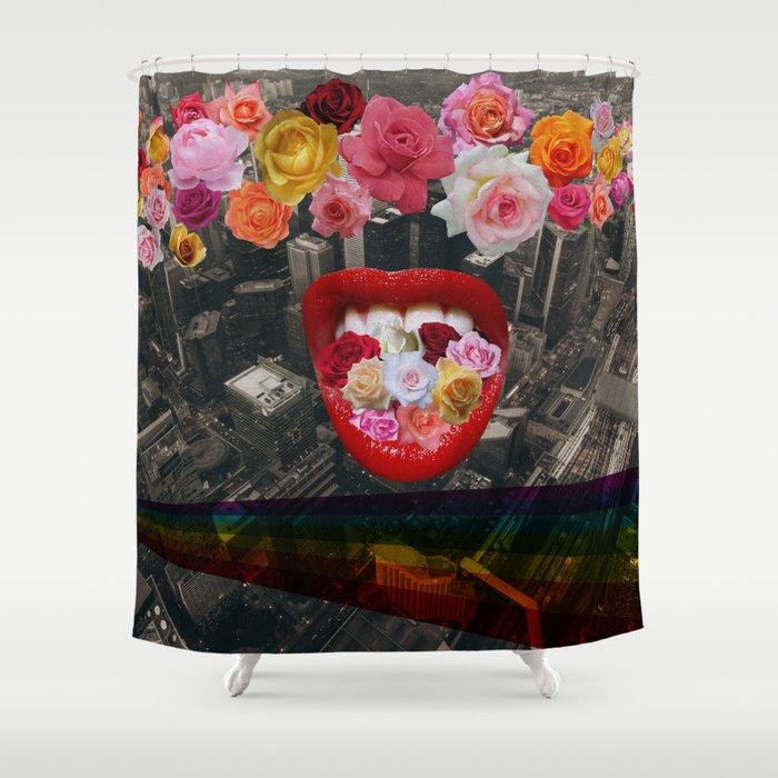 Flower  Vomit Shower Curtain