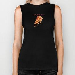 I like cheesy stuff - Cheesy  Pizza Slice Biker Tank