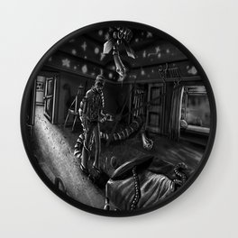 Parasitic Nightmare Wall Clock