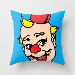 clown art, clown illustration, clown pop art, home decor Throw Pillow