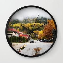 Autumn in Revelstoke Wall Clock