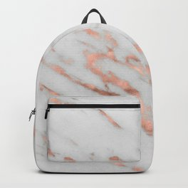 Lenola - minimalist rose gold gleam marble Backpack