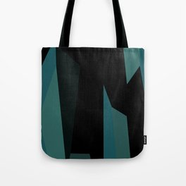 teal and black abstract Tote Bag
