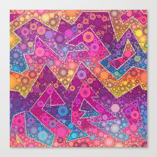 Rave Bubbles At Sunrise Canvas Print