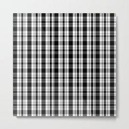 Buffalo Plaid Black Gray Metal Print
