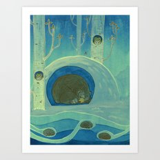 Sleeping in Shifts Art Print
