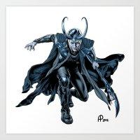 loki Art Prints featuring Loki by Alessia Pelonzi