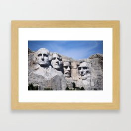 Mt Rushmore Framed Art Print