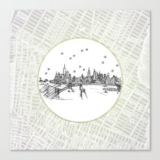 New York, New York City Skyline Illustration Drawing Canvas Print