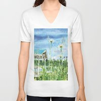 daisies V-neck T-shirts featuring Daisies by Spirit Works