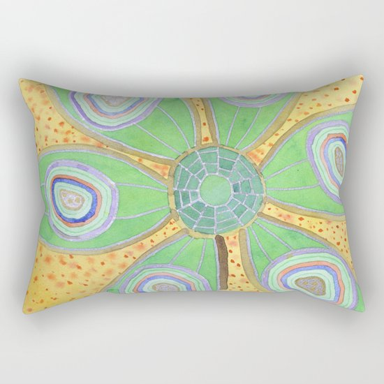 Glamourous  Succulent with Rings Rectangular Pillow