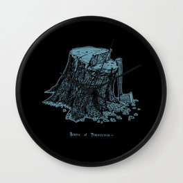 Birth of Pinocchio (black version) Wall Clock