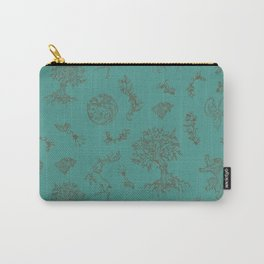 GoT Toile Red on Teal Carry-All Pouch