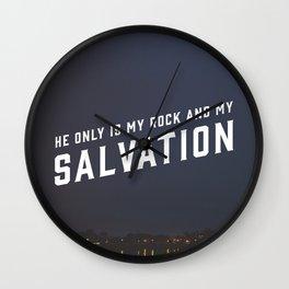 Psalm 62:6 Wall Clock