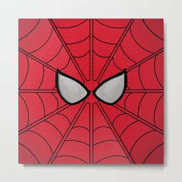Spidey Mask Metal Print