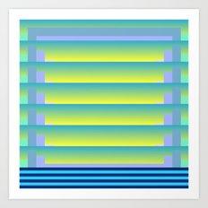 Gradient Fades v.3 Art Print