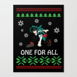 My Hero Academia Ugly Christmas Canvas Print
