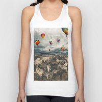 hot air balloons Tank Tops featuring Balloons by Mrs Araneae