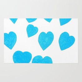 Many Blue Hearts Rug