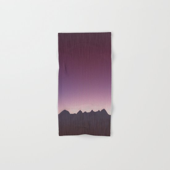 Pink mountains Hand & Bath Towel