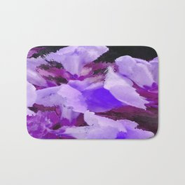 Snapdragons In Shades Of Purple Abstract Flowers Bath Mat
